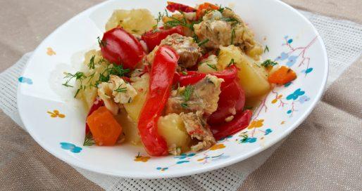merluzzo in umido con verdure